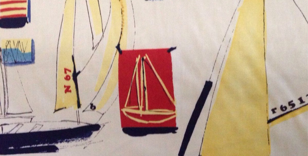 Ships Ahoy Fabric - Coastal