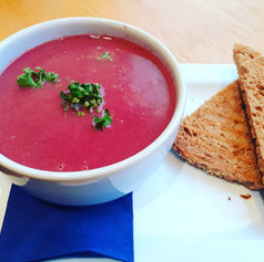 Homemade Soup & Toasted Granary Bread