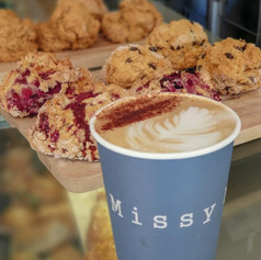 Coffee with a Berry Scone or Fruit Scone...