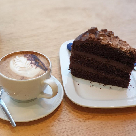 Chocolate Fudge Cake & Java Republic Coffee