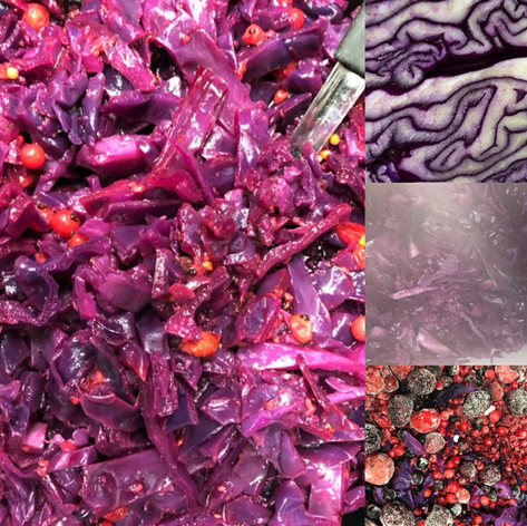 Red Cabbage & Berry Salad, amazing colours