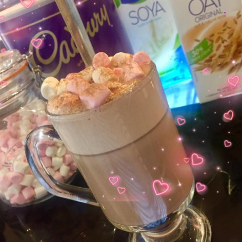 Yummy Hot Chocolate with Marshmallows