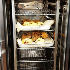 Our first task in the morning - making our famous Homemade Scones