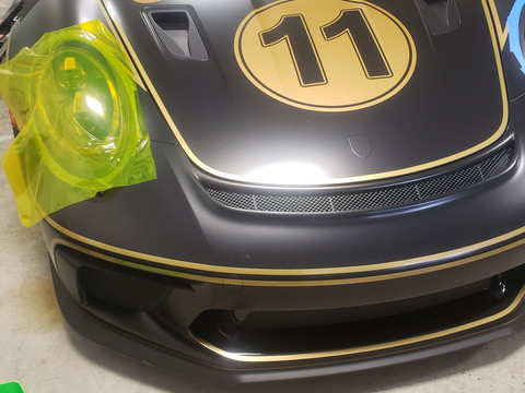 porche gt3 gold rush rally light tinting