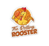 The rolling rooster, logo design, food truc wraps, wall wraps, store front signage, banners austin, tx