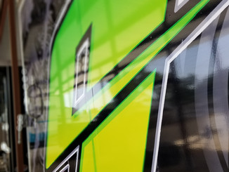 Monster Energy Box Trailer Vinyl wrap and graphics Austin, TX