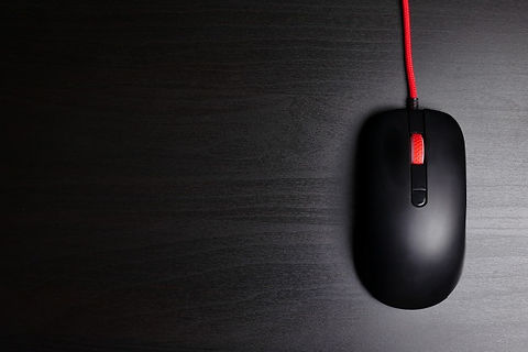 black-computer-mouse-dark-background-fre