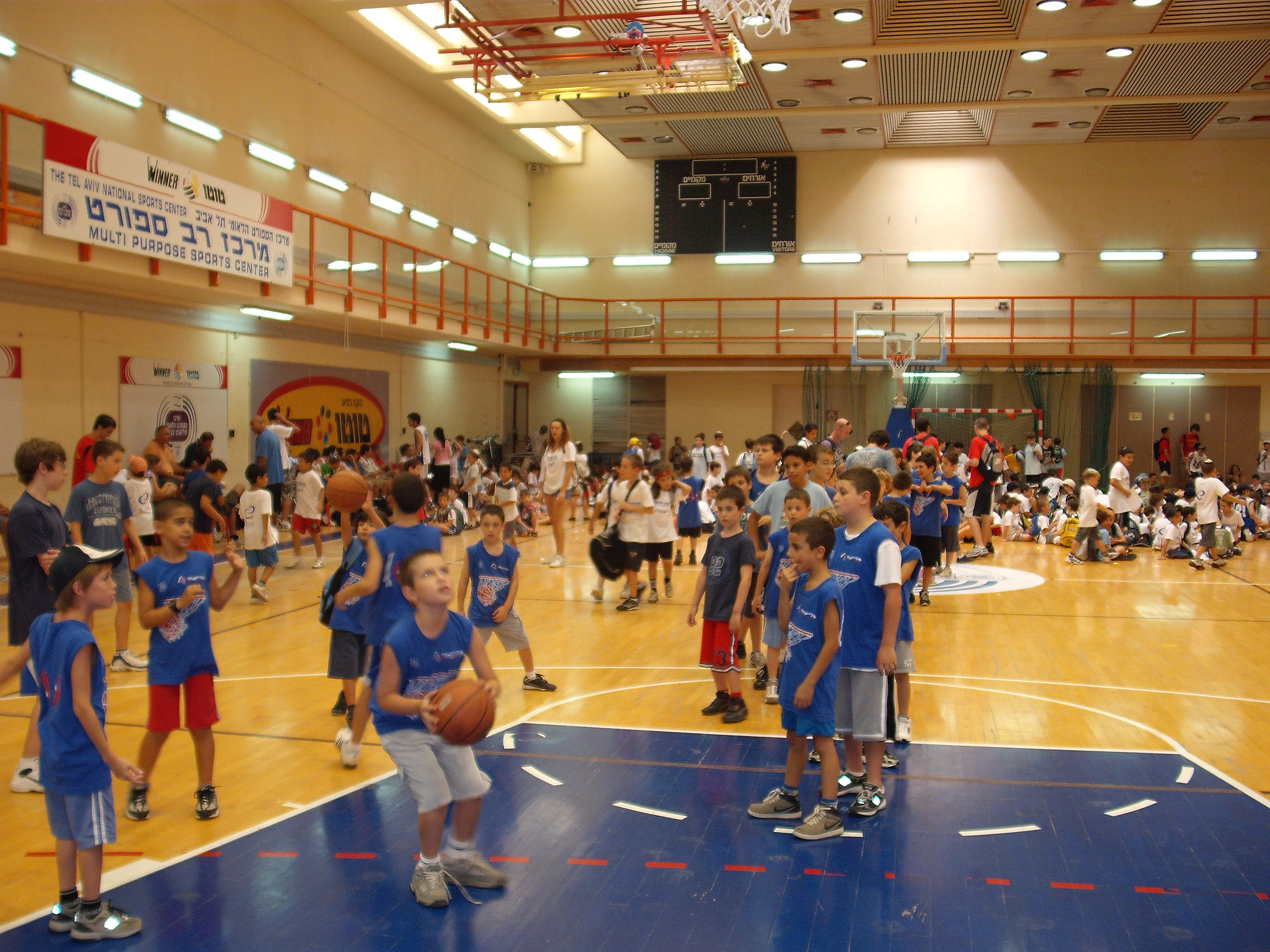 מחנה כדורסל באימון נבחרת ישראל