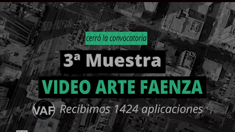 WECreate Space-In Betweeness at III Muestra de Video Arte Faenza
