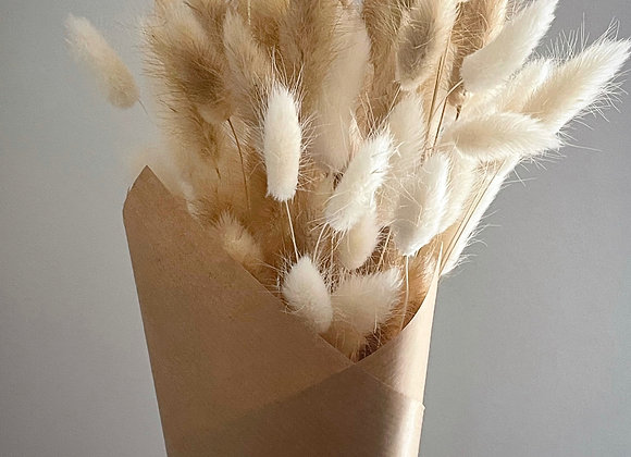 White and Natural Bunny Tails