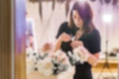 Iris & Co wedding florst lndnon surrey playing with flowers