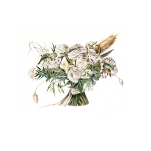 Illustrated wedding bouquet