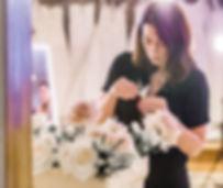 London wedding florist gemma hales touching flowers