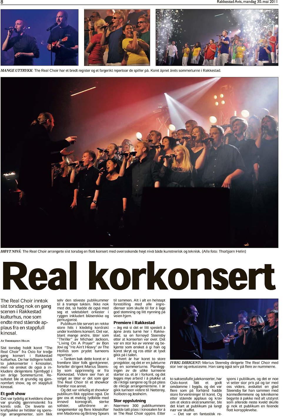 2 Artikkel fra konsert i Rakkestad