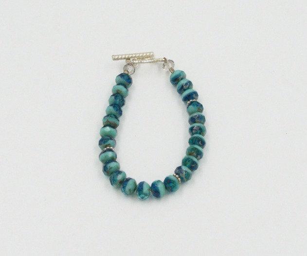 Turquoise Rondelle Bead Bracelet