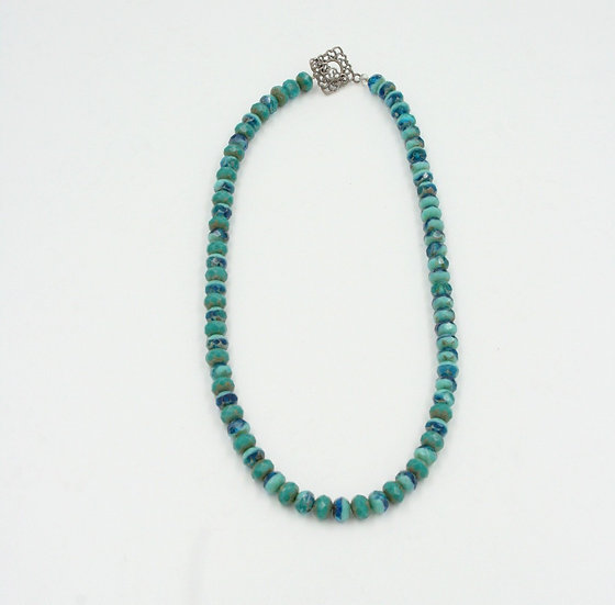 Turquoise Rondelle Bead Necklace