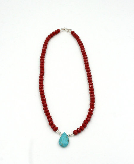 Red Faceted Necklace