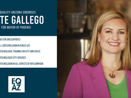 Equality Arizona Endorses Kate Gallego for Mayor