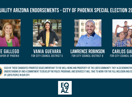 Equality Arizona Endorsements for 2019 City of Phoenix Special Election