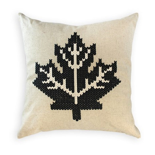 Maple Leaf cushion grey