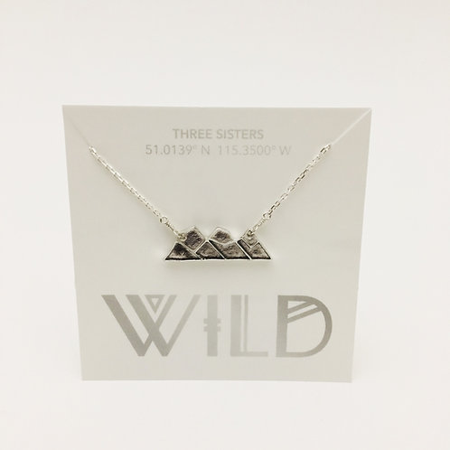 Wild - Three Sisters Mountain necklace