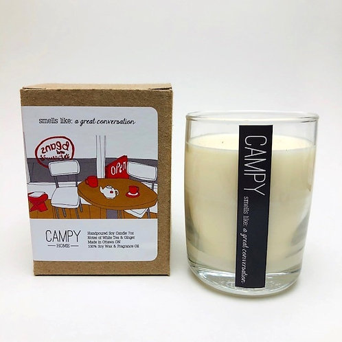 Campy Candle - Smells like: A Great Conversation 7 oz.