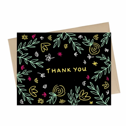 Little May Papery - thank you neon