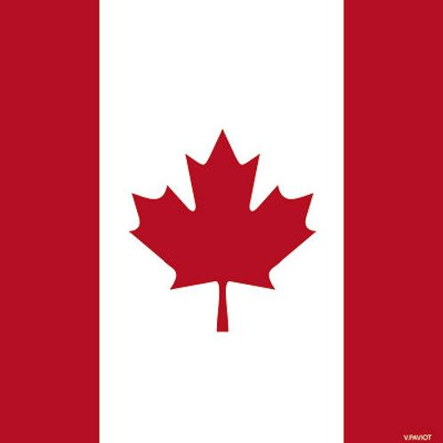 Francoise Paviot Cocktail Napkin - Canadian Flag
