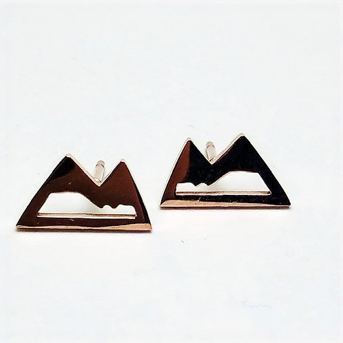 Wonderland - mountain stud earrings rose gold