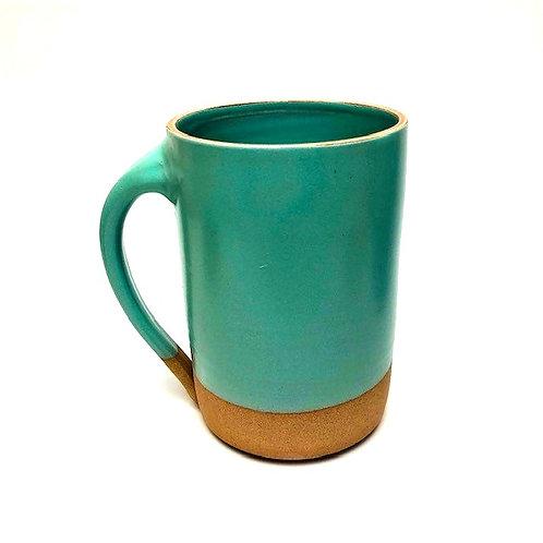 Monashee Pottery - handle mug turquoise blue
