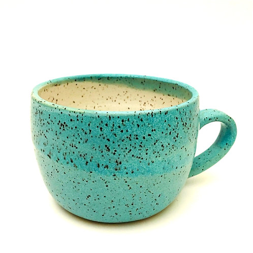 Monashee Pottery - handle mug speckled robin's egg blue