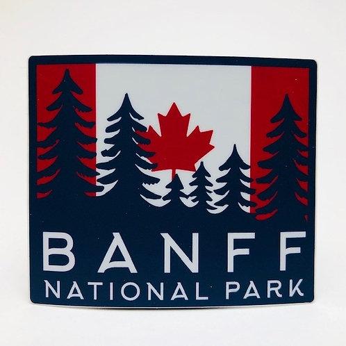 Stickers Northwest Inc -  Banff National Park flag
