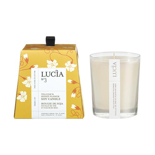 Pure Living - Lucia No 3 Tea Leaf Honey votive candle 20 Hours