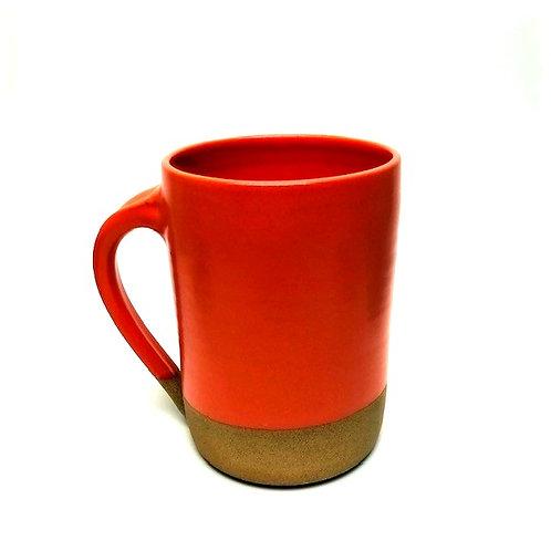 Monashee Pottery - handle mug tangerine orange