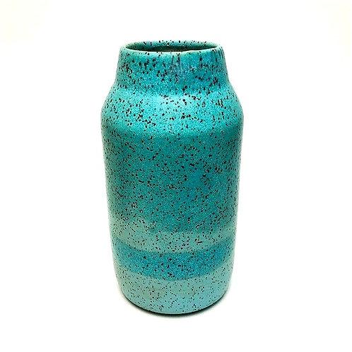 Monashee Pottery - bud vase speckled robin's egg blue