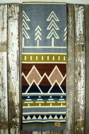 """Heartprint Threads Queen Blanket - 80 x 92"""" tree line subalpine"""