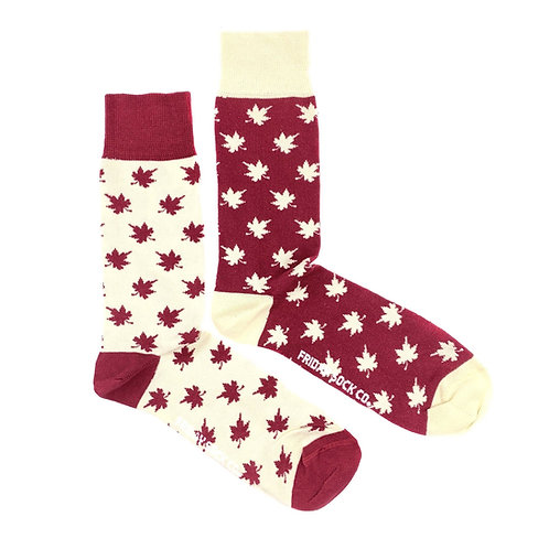 Friday Sock Co - Men's Oh Canada maple leaf