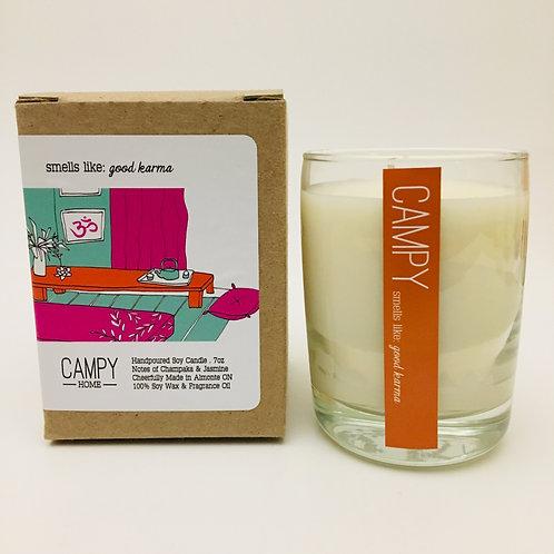Campy Candle - Smells like: Good Karma 7 oz.
