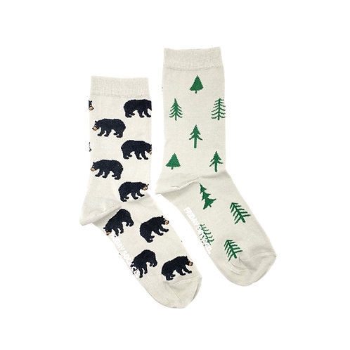 Friday Sock Co - Women's bear + trees