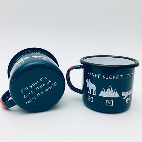 Branches Brand - 'Banff Bucket List' Enamel Camp Mug