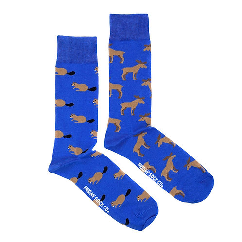 Friday Sock Co - Men's moose + beaver