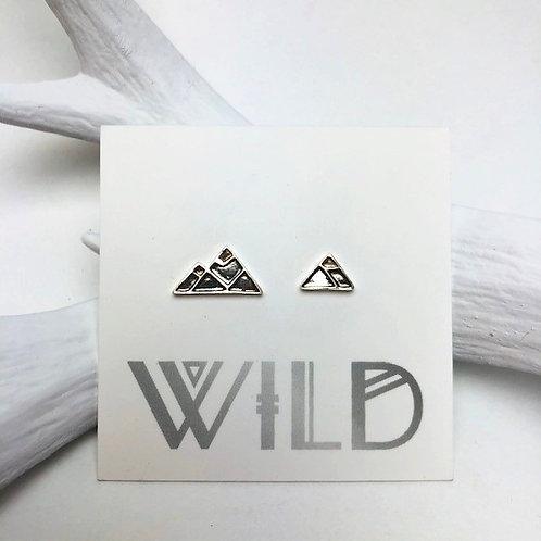 Wild - mountain stud earrings