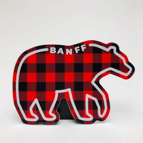 Stickers Northwest Inc -  Banff lumberjack bear