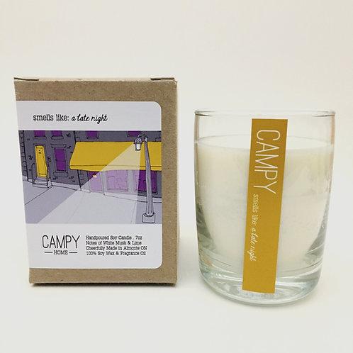 Campy Candle - Smells like: A Late Night 7 oz.