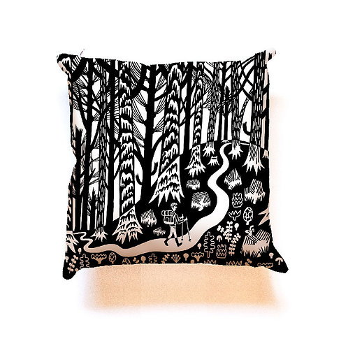 Forest & Waves - Forest Trail pillow cover 18x18""