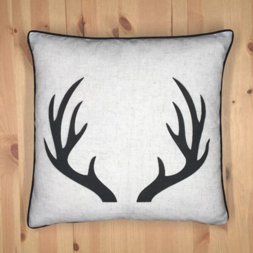 Antlers cushion black