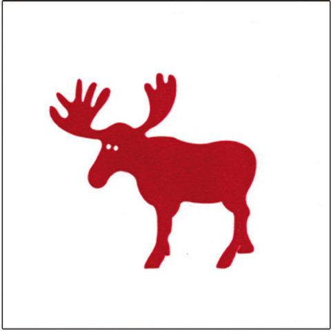 Francoise Paviot Dinner Napkin - Red Moose