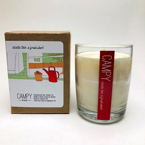 Campy Candle - Smells like: A Fresh Start 7 oz.