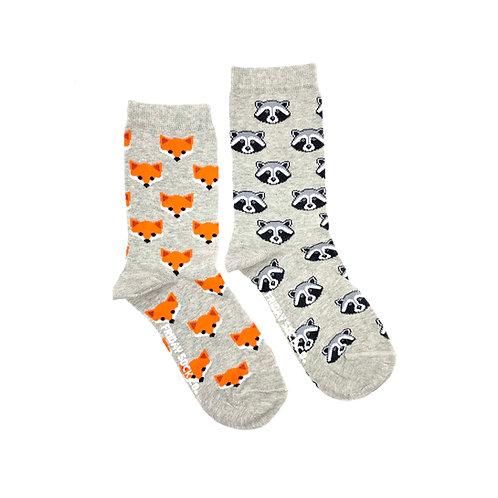 Friday Sock Co - Women's fox + raccoon