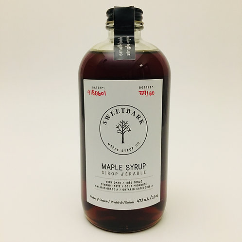 Sweetbark Maple Syrup Co - very dark 473mL / 16oz
